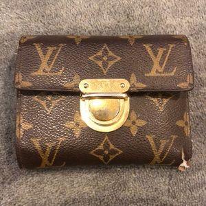 Louis Vuitton Monogram Trifold Wallet Women's